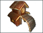 Domek dřevěný s mostem 17x24x21cm