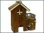 Domek dřevěný terasa 23x12x24cm
