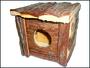 Domek kostka dřevěný 14x14cm