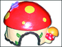 Domek Muchomůrka poly 13x12x10cm