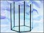 Akvarium šestihran pr.30cm,v.35cm